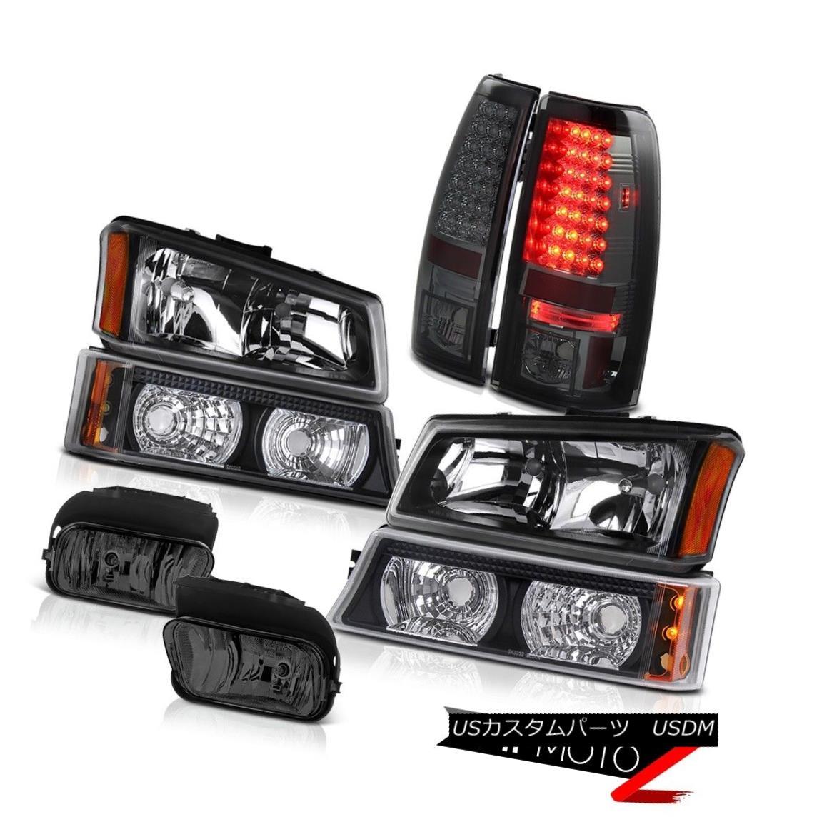テールライト 2003-2006 Silverado Black Headlights Parking Signal Bumper Tail Lights Foglights 2003-2006 Silverado Blackヘッドライトパーキング信号バンパーテールライトFoglights