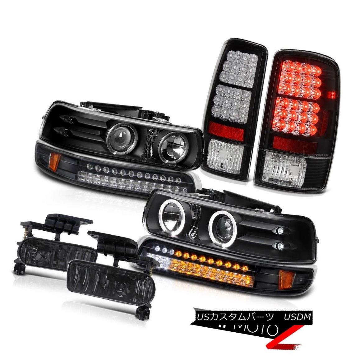 テールライト Black LED DRL Headlamps Parking Tail Light Fog 00 01 02 03 04 05 06 Suburban LS ブラックLED DRLヘッドランプパーキングテールライトフォグ00 01 02 03 04 05 06郊外LS