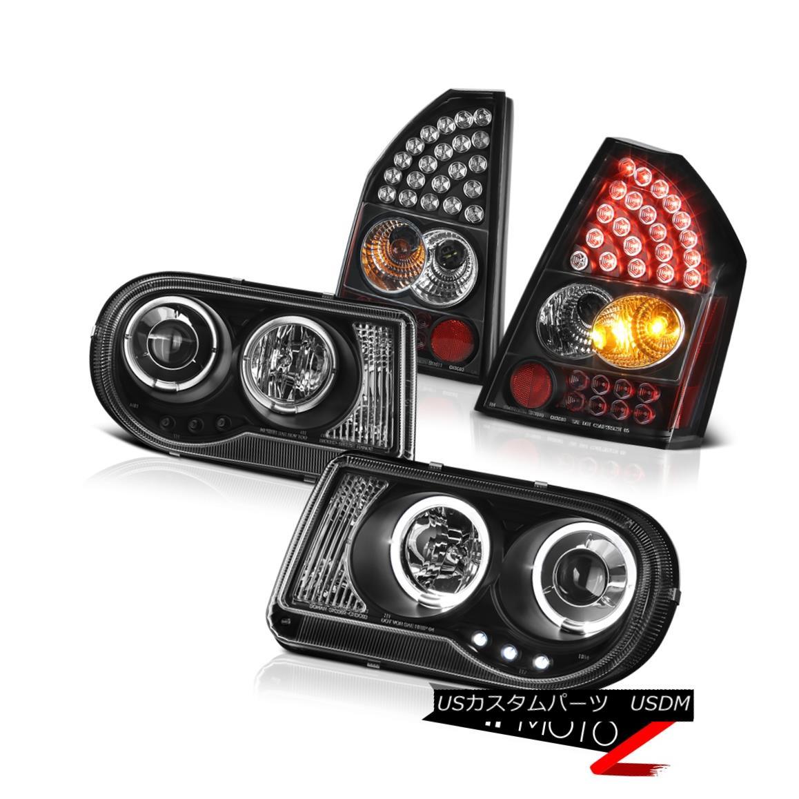 テールライト 2008-2010 Chrysler 300C SRT8 2X Angel Eye Projector Headlights L.E.D Tail Lights 2008-2010クライスラー300C SRT8 2XエンジェルアイプロジェクターヘッドライトL.E.Dテールライト