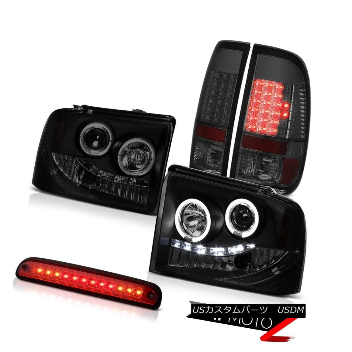 テールライト 05 06 07 F450 F550 Headlights Halo LED Signal Parking Tail Lights Red 3rd Brake 05 06 07 F450 F550ヘッドライトHalo LED信号パーキングテールライトレッド第3ブレーキ