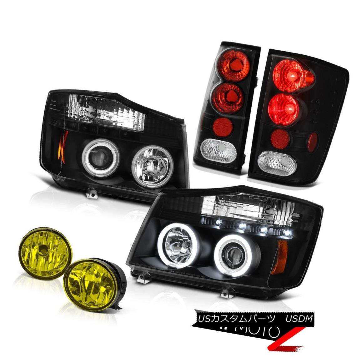 テールライト For 04-15 Titan SL BRIGHTEST CCFL Halo Headlight Tail Brake Lights Bumper Fog 04?15タイタンSL BRIGHTEST CCFLハローヘッドライトテールブレーキライトバンパーフォグ