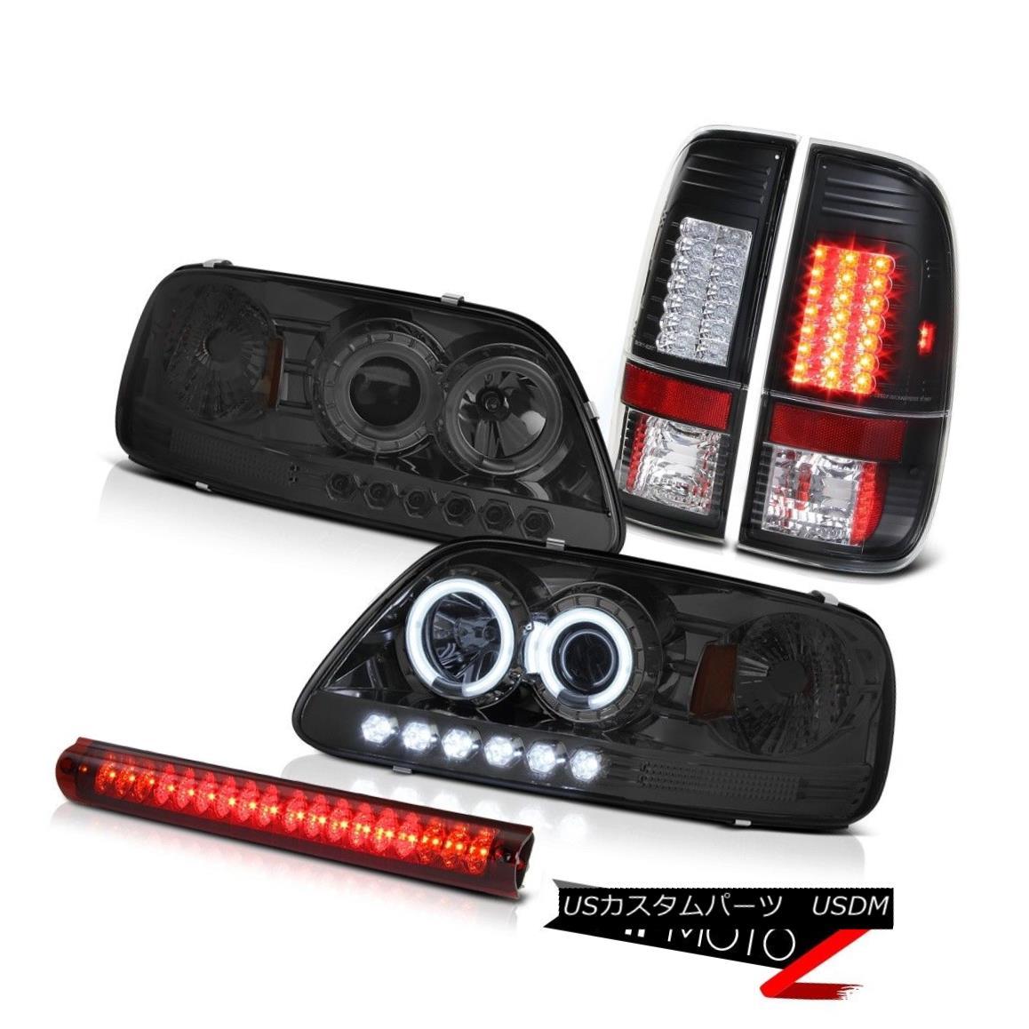 テールライト Brightest Angel Eye Headlight SMD Tail Lights Roof Brake 1999 2000 2001 F150 XLT 最も明るいエンジェルアイヘッドライトSMDテールライトルーフブレーキ1999 2000 2001 F150 XLT