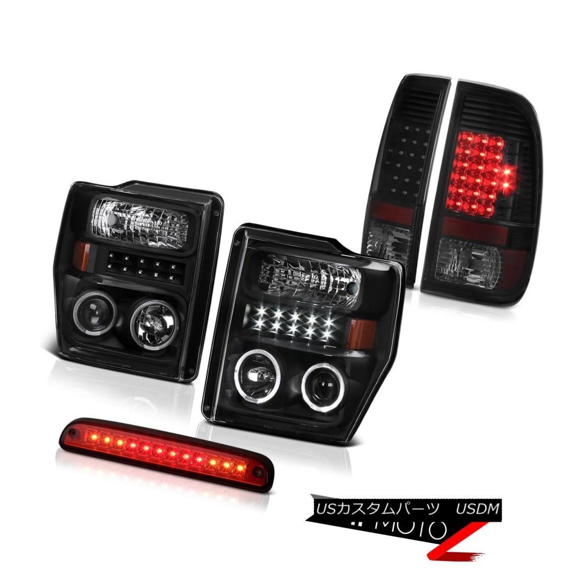 テールライト 08 09 10 Ford F250 SD Black LED DRL Headlamps Philip SuperFlux Taillights High 08 09 10 Ford F250 SDブラックLED DRLヘッドランプPhilip SuperFlux尾灯