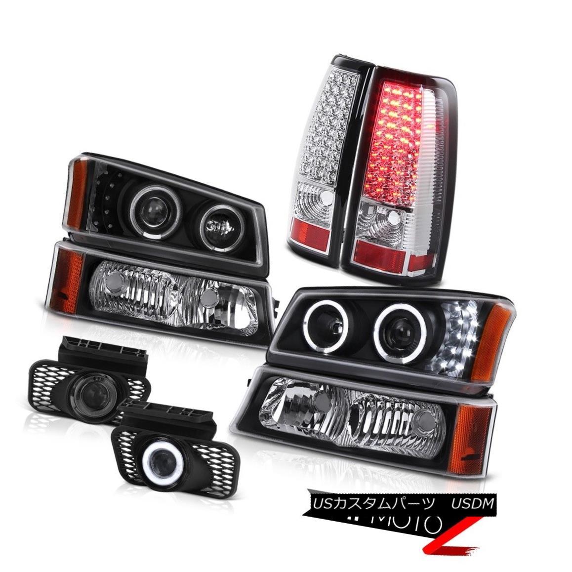 テールライト DRL LED Angel Eye Headlights Tail Lights Relay Foglamps 2003-2006 Silverado LS DRL LEDエンジェルアイヘッドライトテールライトリレーFoglamps 2003-2006 Silverado LS