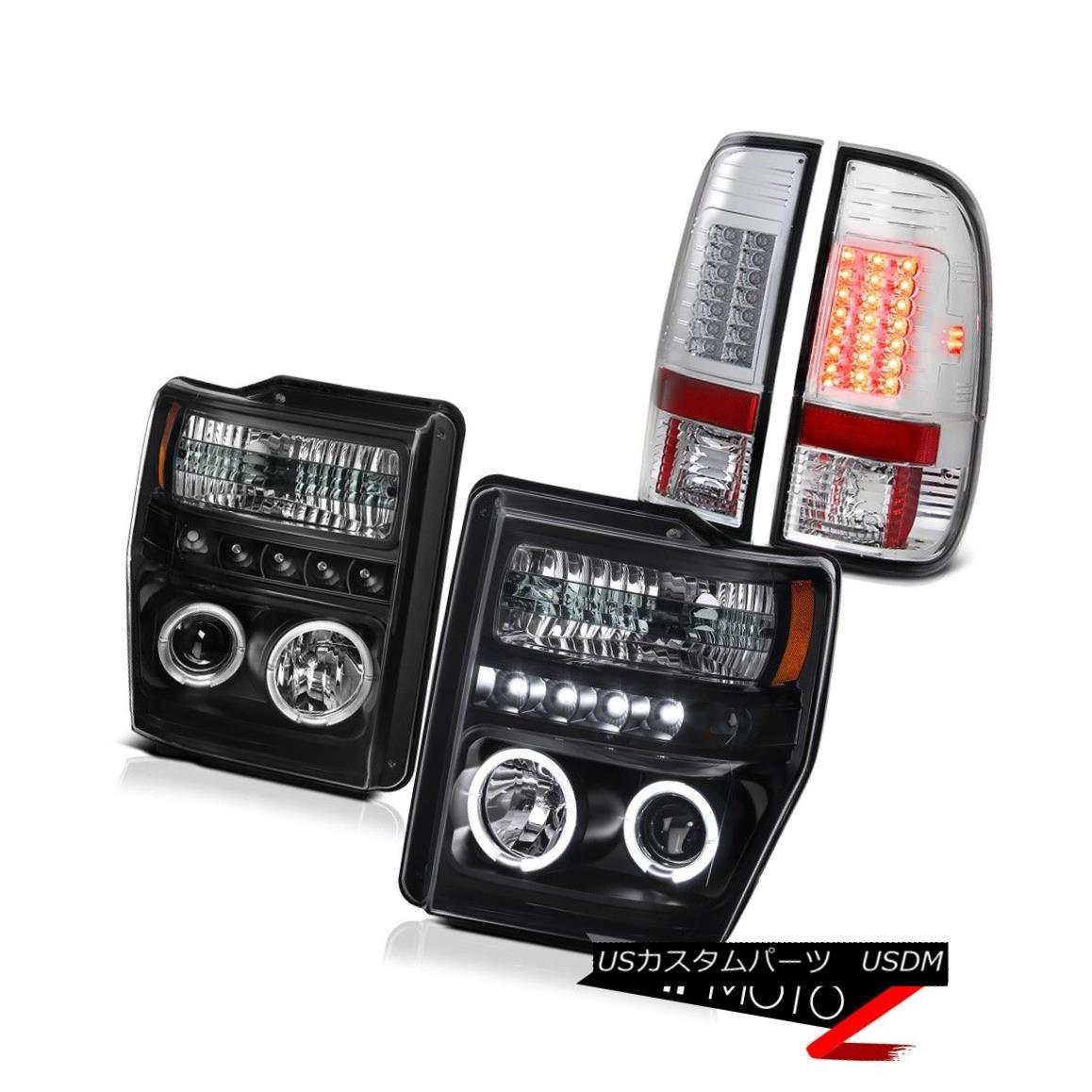 テールライト 2008-2010 Ford Superduty 6.8L XL Projector Black Headlight BRIGHT LED Tail Light 2008-2010フォードSuperduty 6.8L XLプロジェクターブラックヘッドライトBRIGHT LEDテールライト