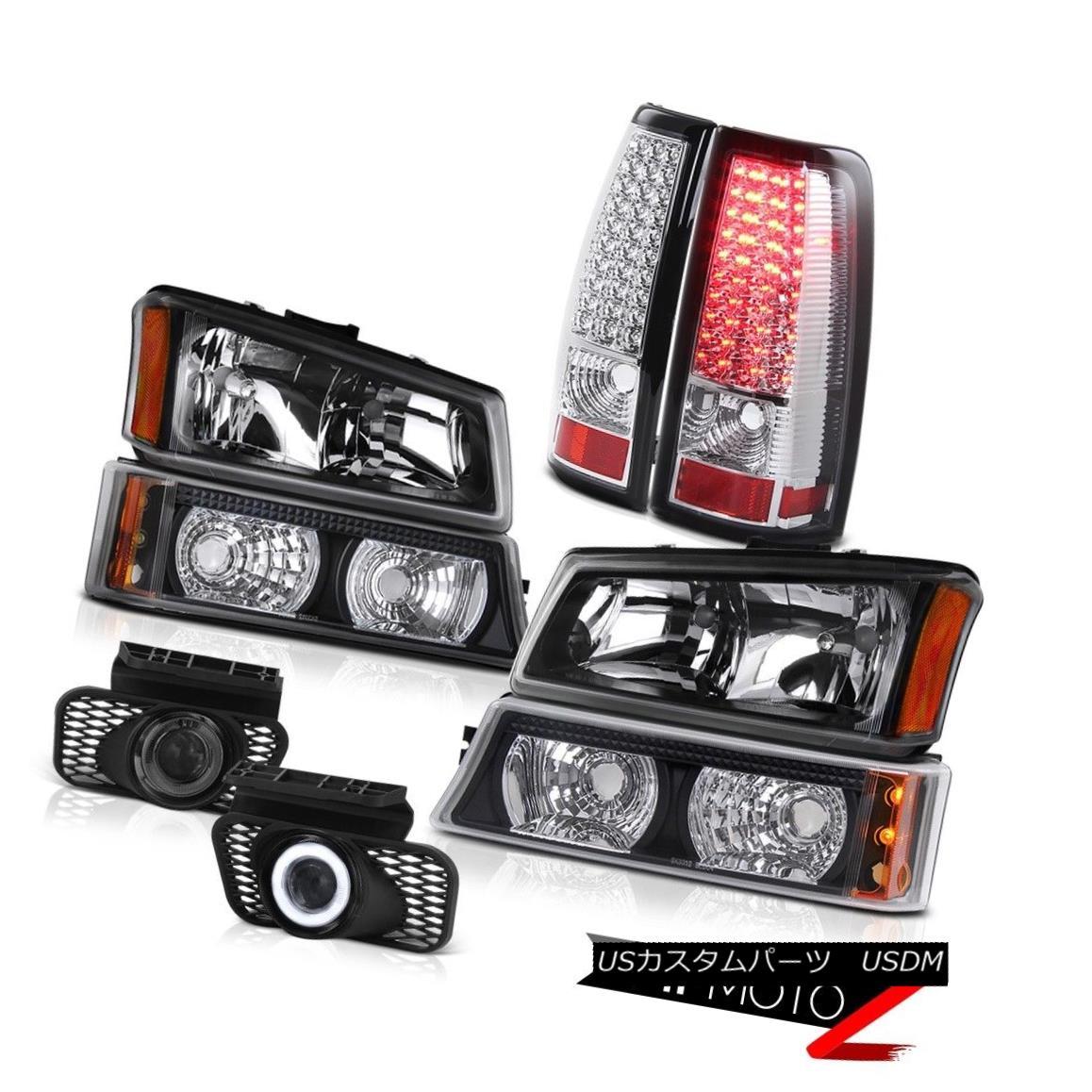 テールライト Crystal Headlight Bumper Lamp Sterling Chrome Tail Foglamps 03-06 Silverado XL クリスタルヘッドライトバンパーランプスターリングクロムテールフォグランプ03-06 Silverado XL