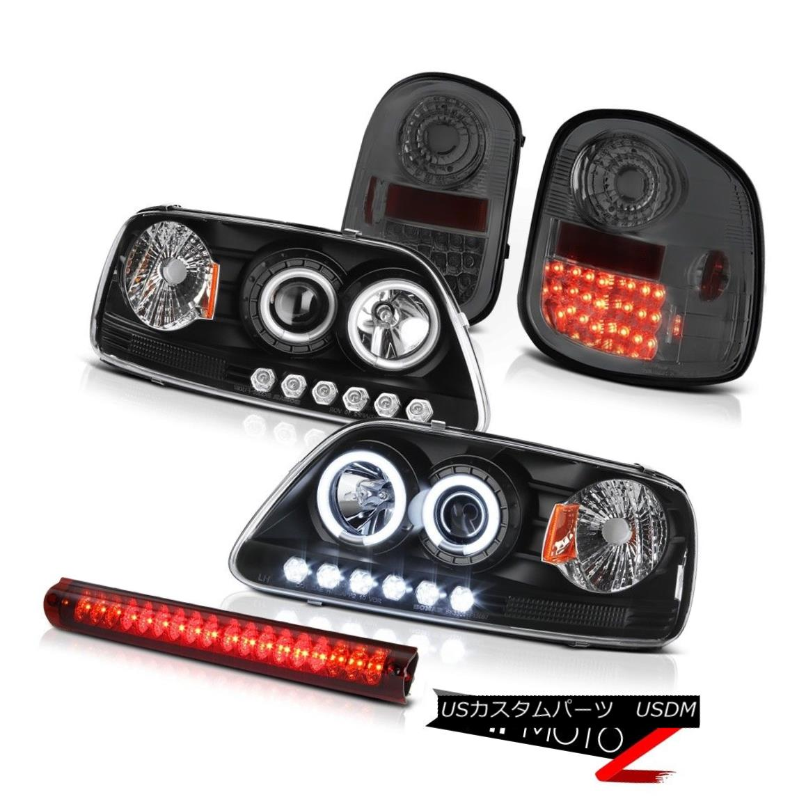 テールライト Angel Eye CCFL Headlamps Smoke LED Tail Lights 3rd Brake 97-03 F150 Flareside エンジェルアイCCFLヘッドランプスモークLEDテールライト3rdブレーキ97-03 F150 Flareside