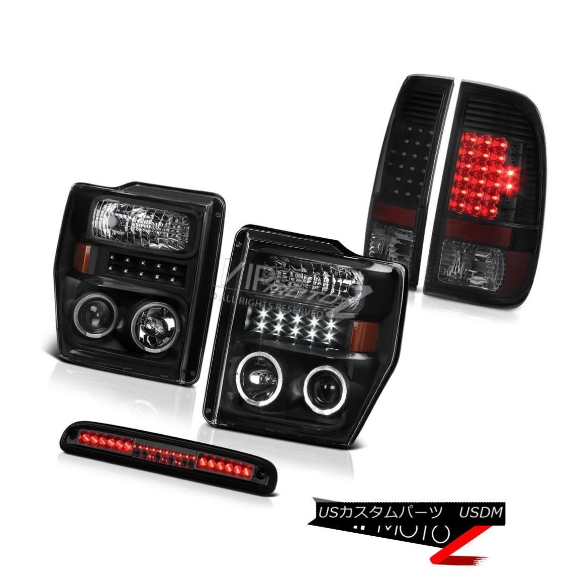 テールライト 2008-2010 F350 Triton V10 Black LED Headlights Sinister Taillights Brake Cargo 2008年?2010年F350トリトンV10ブラックLEDヘッドライト不快なティアライトブレーキカーゴ