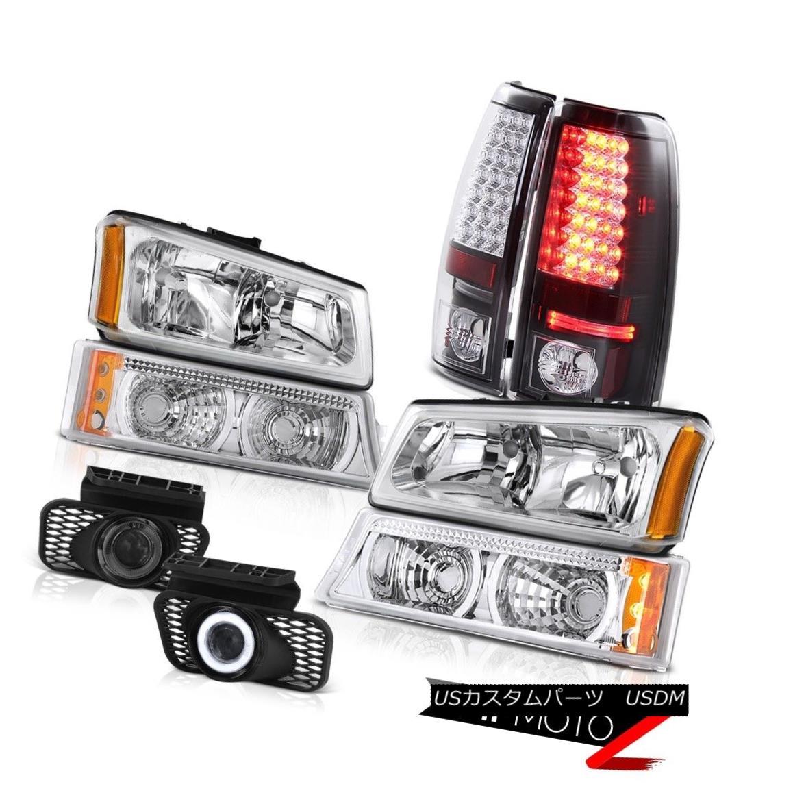 テールライト Crystal Headlamps Turn Signal LED Tail Light Foglamp 2003-2006 Silverado 6.0L V8 クリスタルヘッドランプターンシグナルLEDテールライトFoglamp 2003-2006 Silverado 6.0L V8