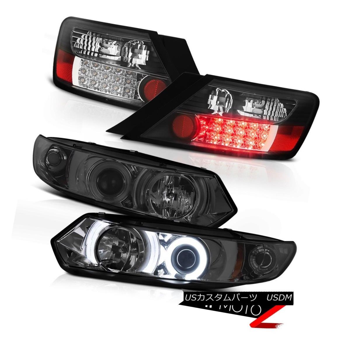 テールライト 2006-2011 Honda Civic 2DR LX C.C.F.L Smoke Halo Headlights BLACK LED Tail Light 2006-2011ホンダシビック2DR LX C.C.F.LスモークハローヘッドライトブラックLEDテールライト