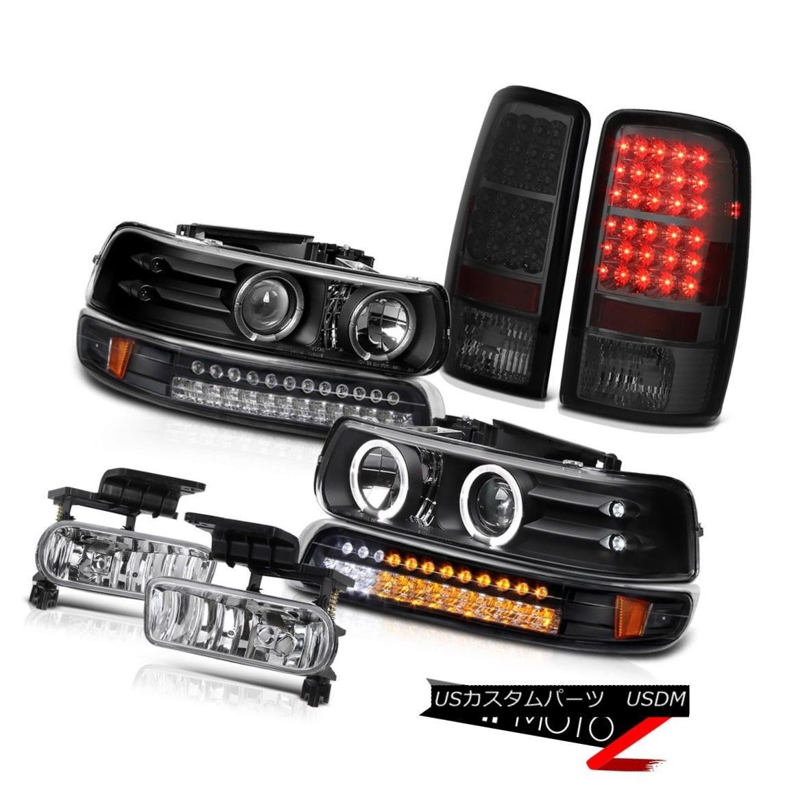 テールライト Projector Black Headlight Bumper Smoked Taillamps Fog Lamps 2000-2006 Suburban プロジェクターブラックヘッドライトバンパースモークタイルランプフォグランプ2000-2006郊外