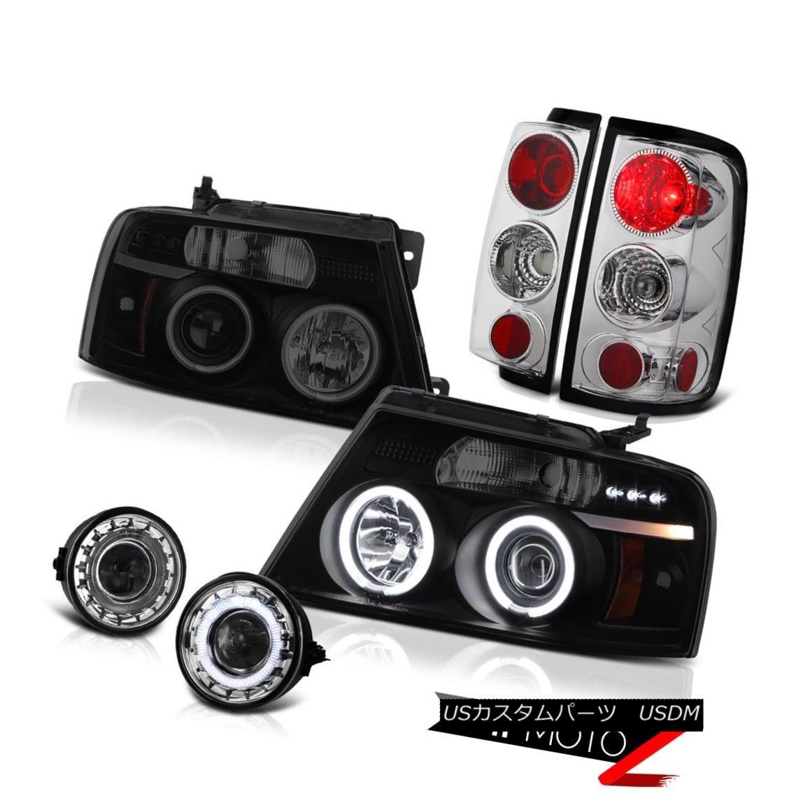 テールライト 2004-2008 F150 PickUp [BRIGHTEST] CCFL Halo Rim Headlight Rear Signal Tail Lamps 2004-2008 F150 PickUp [BRIGHTEST] CCFL Halo Rimヘッドライトリアシグナルテールランプ