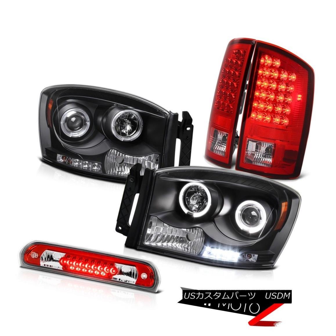 テールライト 2006 Dodge Ram ST Black Halo LED Projector Headlight Brake Tail Light High Cargo 2006ダッジラムSTブラックハローLEDプロジェクターヘッドライトブレーキテールライトハイカーゴ