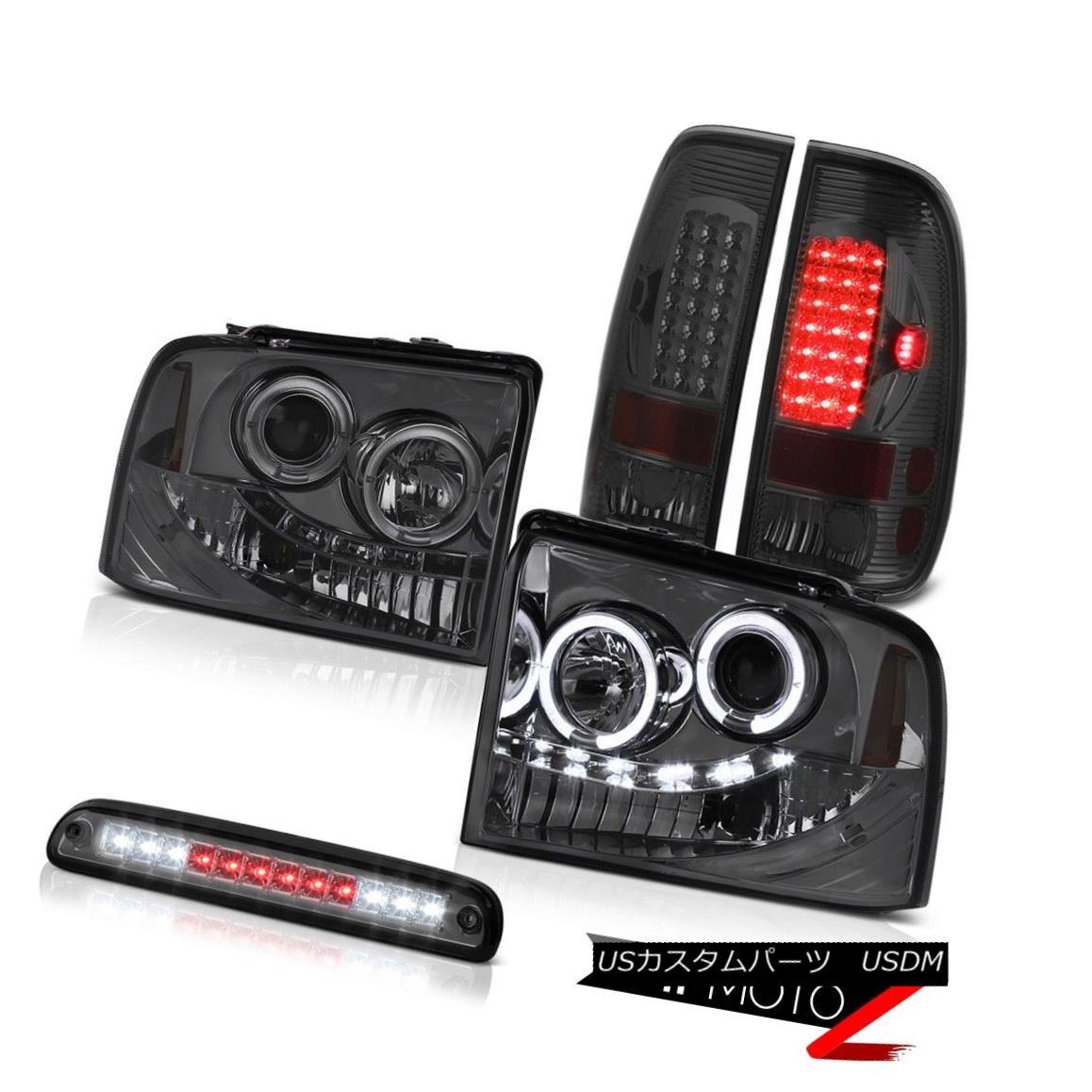 テールライト Projector Headlights Dark LED Brake Tail Lights Roof Cargo 05 06 07 F350 Outlaw プロジェクターヘッドライトダークLEDブレーキテールライトルーフカーゴ05 06 07 F350アウトロー
