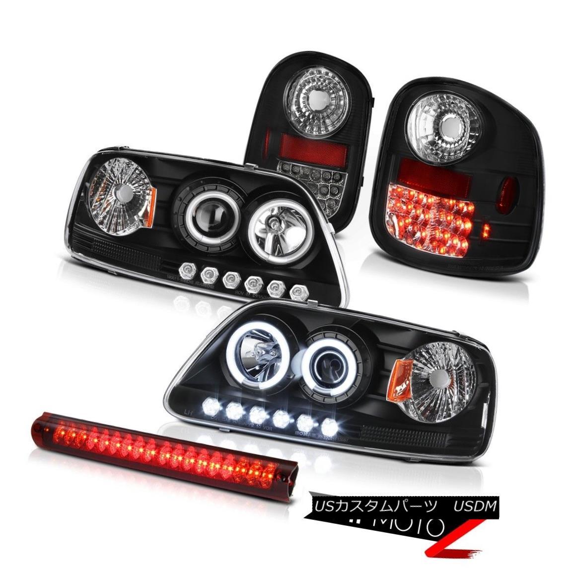 テールライト CCFL Angel Eye Headlights LED Taillights High Stop Red 97-03 Ford F150 Flareside CCFLエンジェルアイヘッドライトLEDテールライトハイストップレッド97-03 Ford F150 Flareside