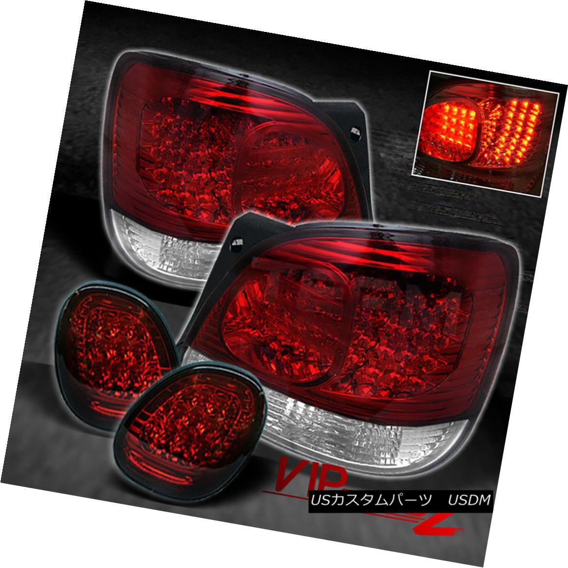 テールライト 98-06 GS300 2JZ JDM Aristo VIP Turbo RED/CLEAR LED Brake Signal Lamp Tail Light 98-06 GS300 2JZ JDM Aristo VIPターボRED / CLEAR LEDブレーキ信号ランプテールライト