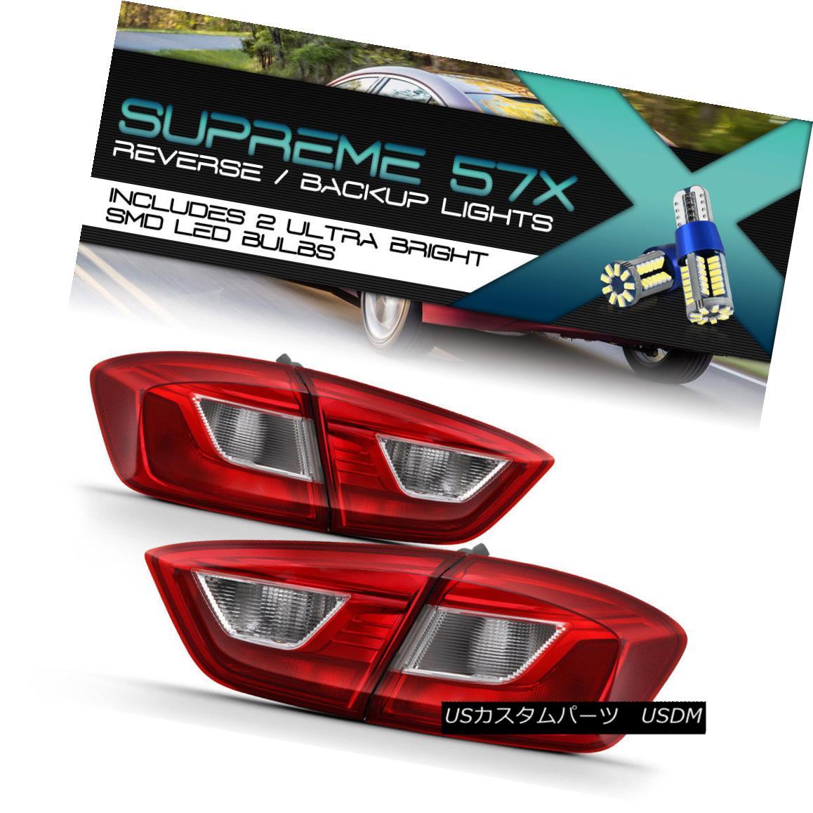 テールライト {SMD LED Reverse Bulb} 16-18 Chevy Cruze Sedan Replacement Tail Light Brake Lamp {SMD LED逆バルブ} 16-18シボレークルーズセダン交換テールライトブレーキランプ
