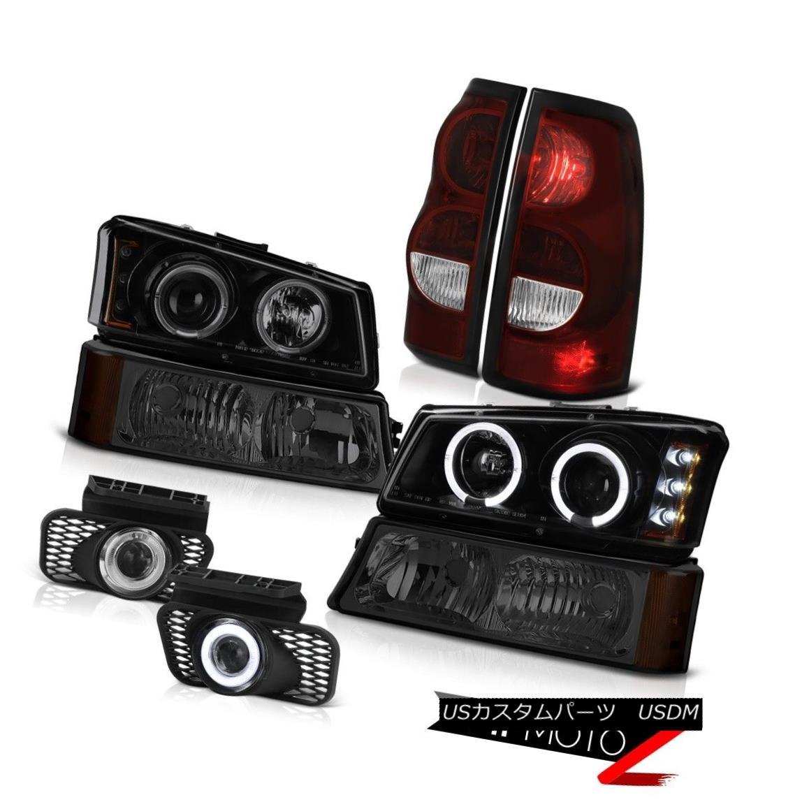 テールライト 03-06 Chevy Silverado Chrome Foglamps Rear Brake Lamps Parking Lamp Headlights 03-06 Chevy Silverado Chrome Foglampsリアブレーキランプパーキングランプヘッドライト