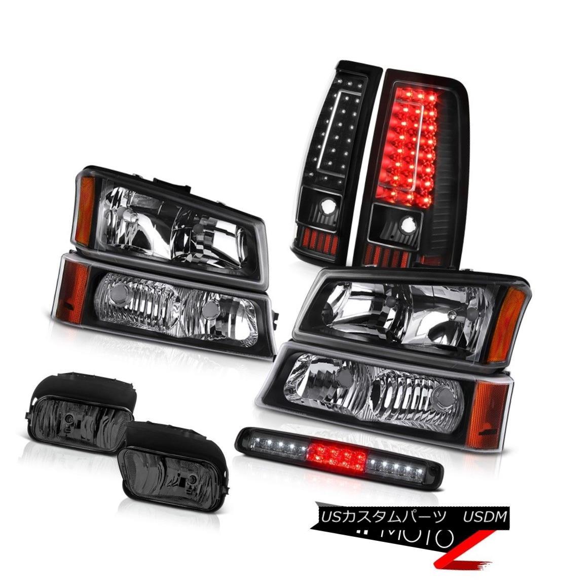 テールライト 03-06 Silverado High Stop Light Foglamps Black Tail Lamps Signal Headlamps LED 03-06 SilveradoハイストップライトフォグランプブラックテールランプシグナルヘッドランプLED