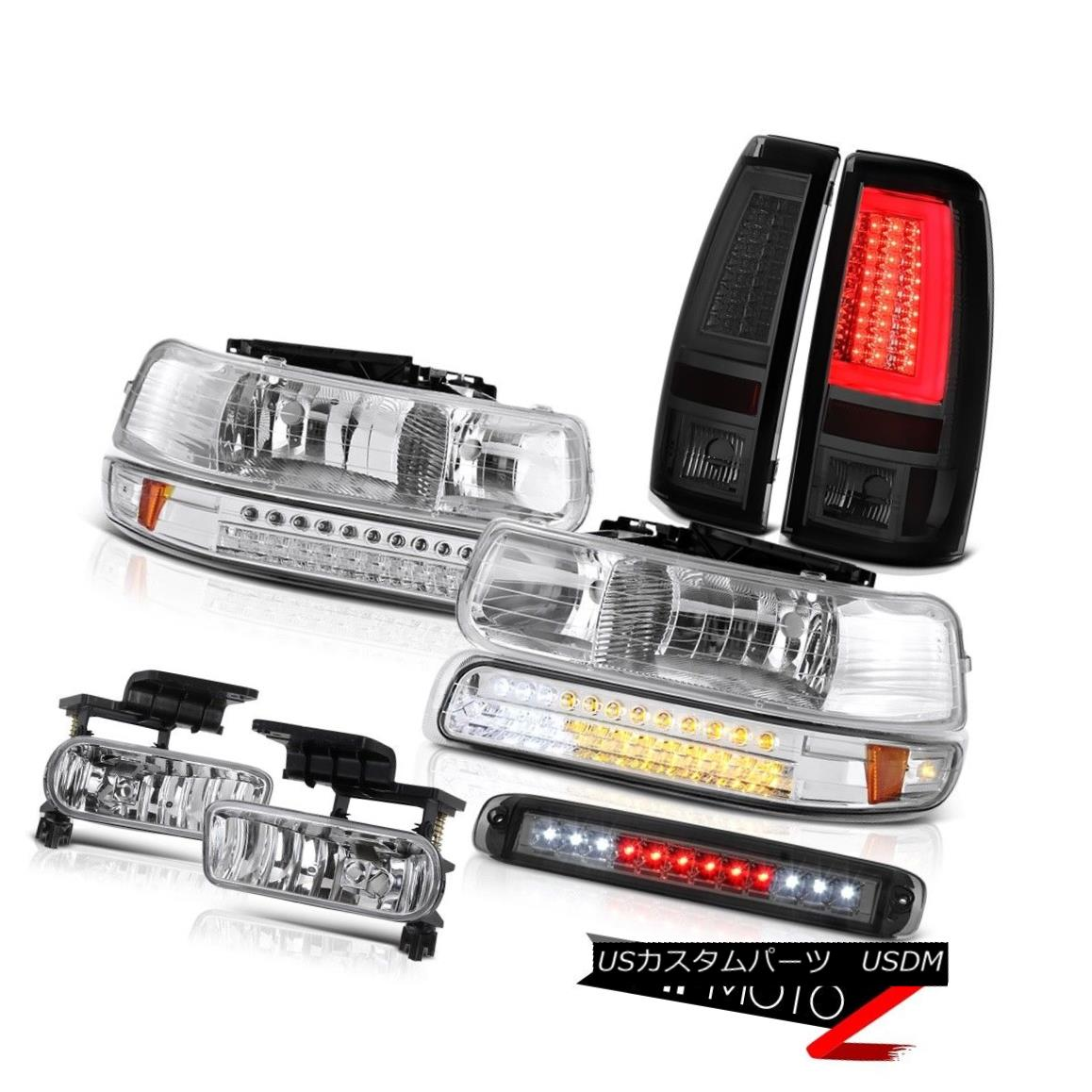 テールライト 99-02 Silverado LTZ Tail Lamps Roof Cab Light Euro Chrome Headlamps Fog Lights 99-02 Silverado LTZテールランプルーフキャブライトユーロクロームヘッドランプフォグライト
