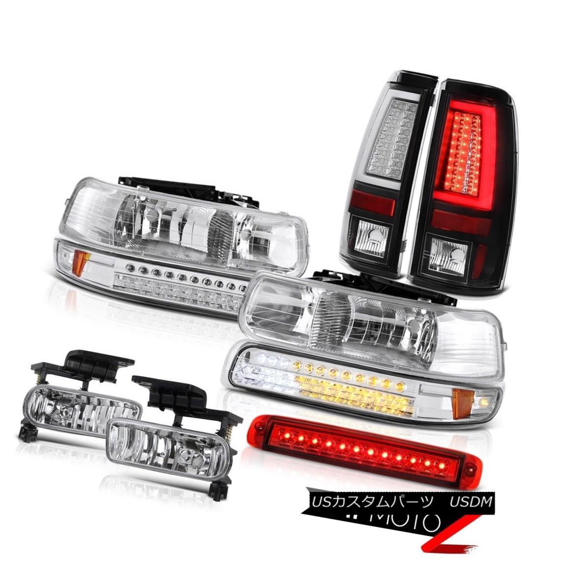 テールライト 99-02 Silverado LS Matte Black Tail Lights Roof Cargo Light Headlamps Foglamps 99-02 Silverado LSマットブラックテールライトルーフカーゴライトヘッドランプフォグランプ