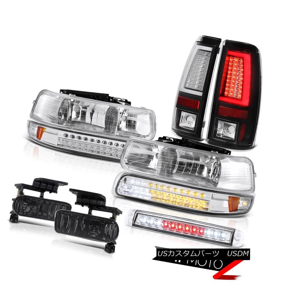 テールライト 99-02 Silverado LTZ Tail Lights Chrome High Stop Lamp Headlights Foglamps LED 99-02 Silverado LTZテールライトクロームハイストップランプヘッドライトフォグランプLED