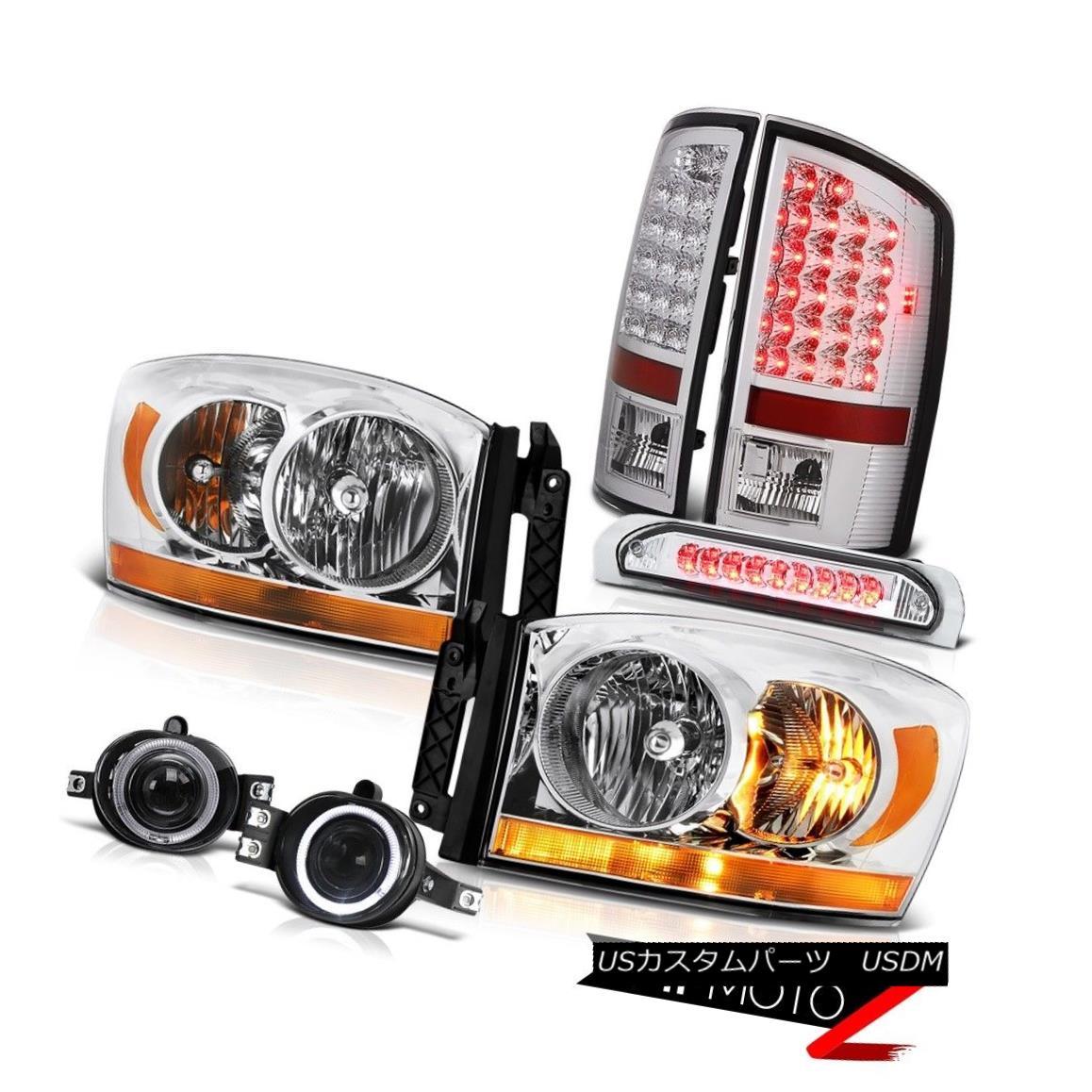 テールライト 2006 Ram 4.7L Chrome Headlamps Foglights Roof Brake Light Tail Lights Oe Style 2006ラム4.7LクロームヘッドランプフォグライトルーフブレーキライトテールライトOEスタイル
