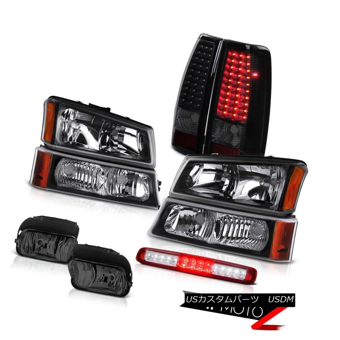 テールライト 03-06 Silverado Foglights Parking Light Wine Red 3RD Brake Headlamps Tail Lights 03-06 Silverado Foglightsパーキングライトワインレッド3RDブレーキヘッドランプテールライト