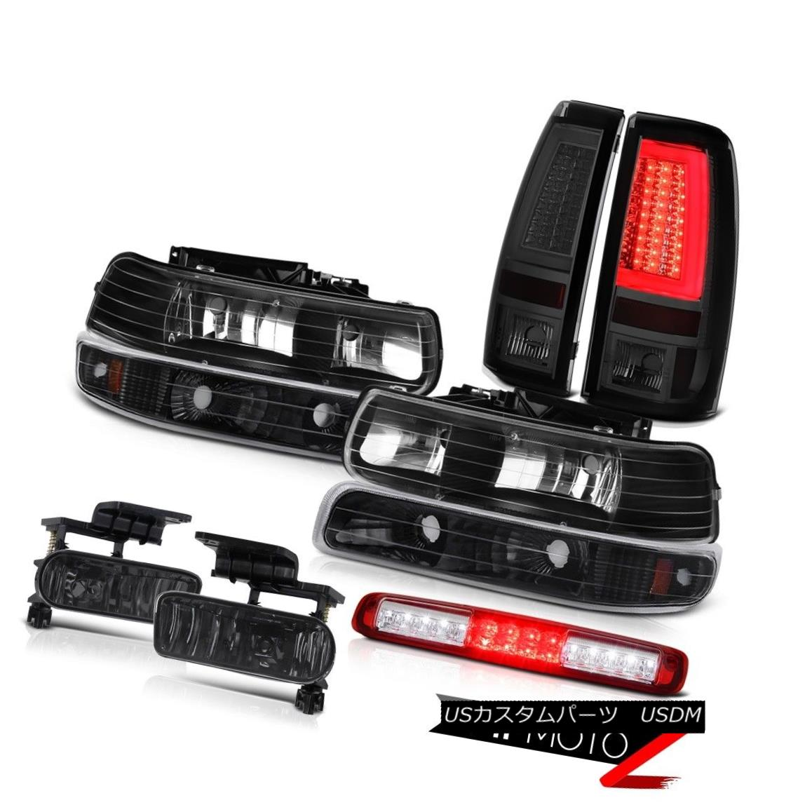 テールライト 99 00 01 02 Silverado LT Taillamps Red 3rd Brake Lamp Black Headlights Fog Lamps 99 00 01 02 Silverado LT Taillampsレッド第3ブレーキランプブラックヘッドライトフォグランプ