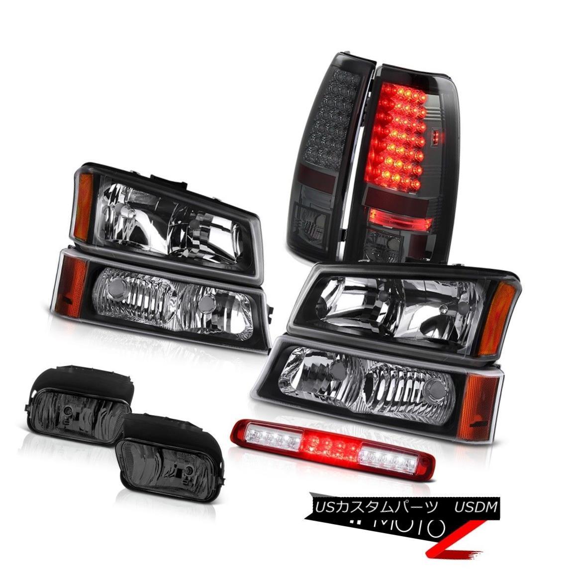 テールライト 03-06 Silverado 1500 Fog Lamps Signal Light Red High Stop Headlamps Tail Lamps 03-06 Silverado 1500フォグランプシグナルライトレッドハイストップヘッドランプテールランプ
