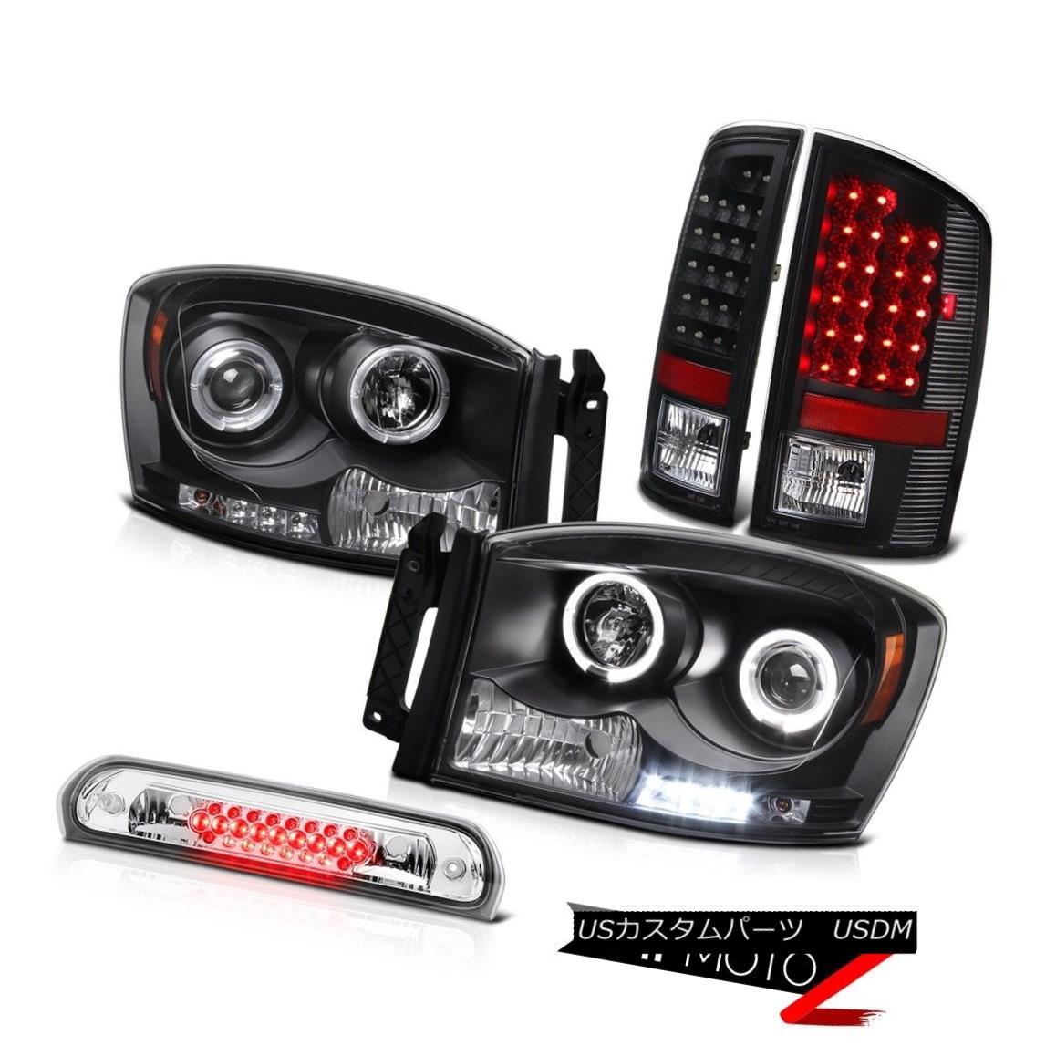 テールライト 2006 Dodge Ram WS Black Halo Rim LED Headlights Bulbs Tail Lamp Chrome 3rd Brake 2006ダッジラムWSブラックハローリムLEDヘッドライト電球テールランプランプ第3ブレーキ