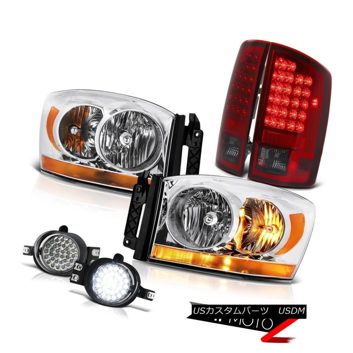 テールライト 2006 Ram 3500 Chrome Headlamps Foglamps Smoked Red Taillights LED