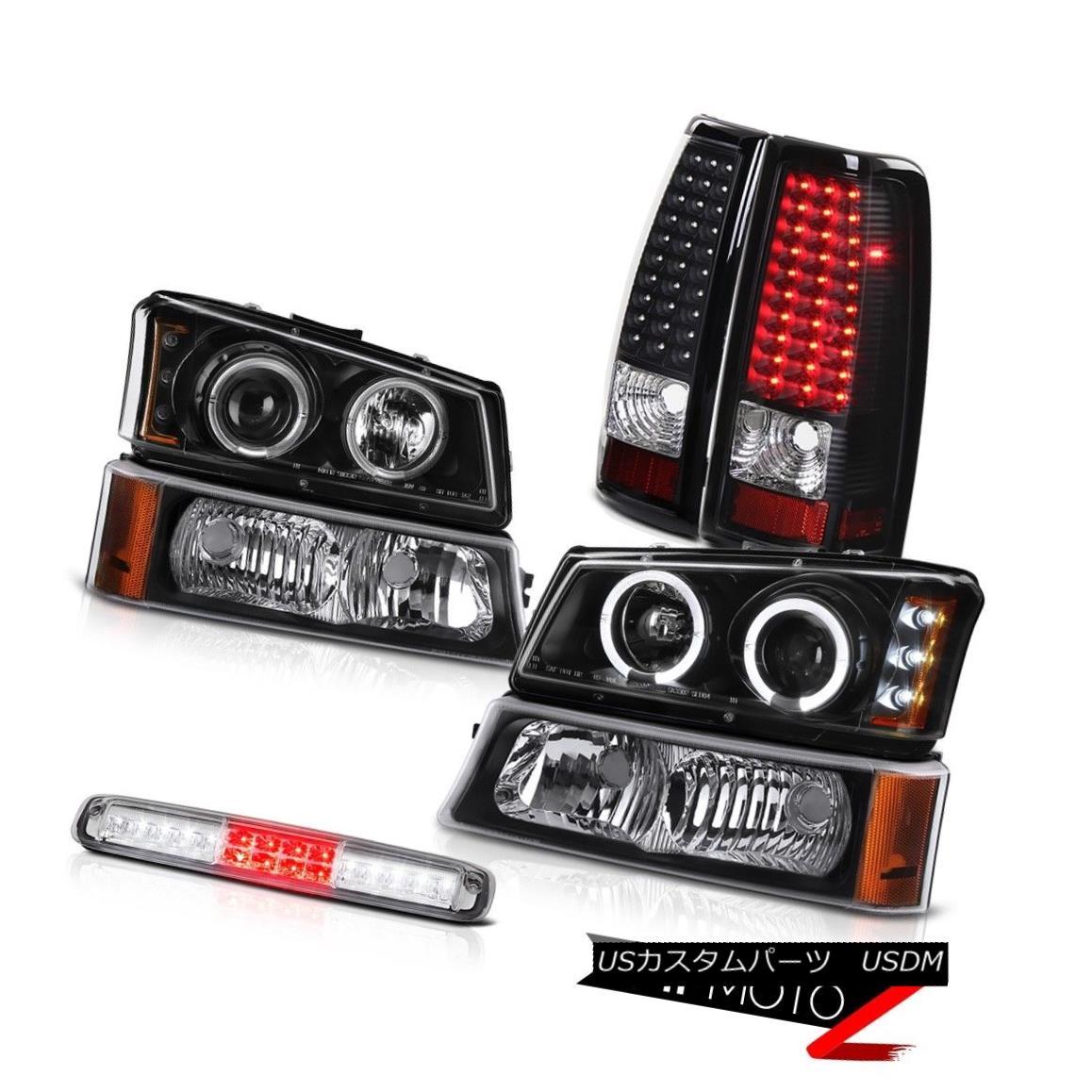 テールライト 03-06 Silverado 1500 Bumper Lamp Euro Clear High Stop Light Headlamps Taillights 03-06 Silverado 1500バンパーランプユーロクリアハイストップライトヘッドランプテールランプ