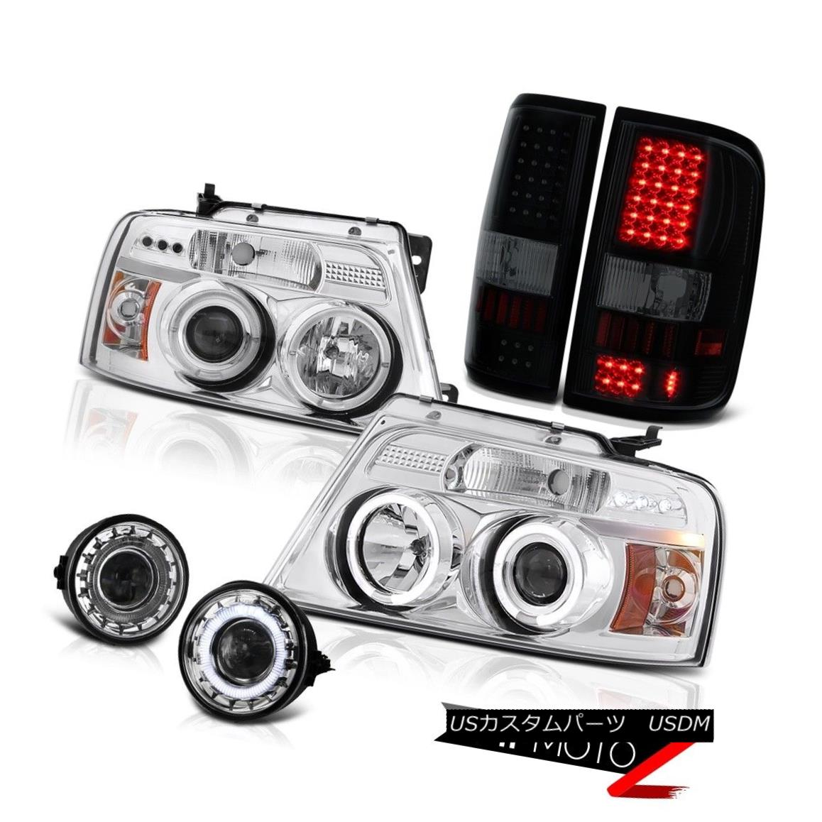 テールライト 06-08 Ford F150 FX4 Fog Lights Tail Headlamps LED Halo Rim Dual Halo