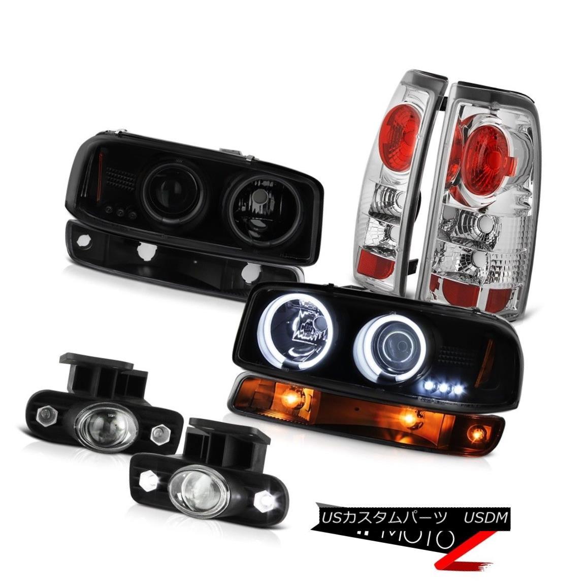 テールライト 1999-2002 Sierra SLE Fog lights taillamps black bumper light ccfl headlamps LED 1999-2002シエラSLEフォグライトテールランプブラックバンパーライトccflヘッドライトLED