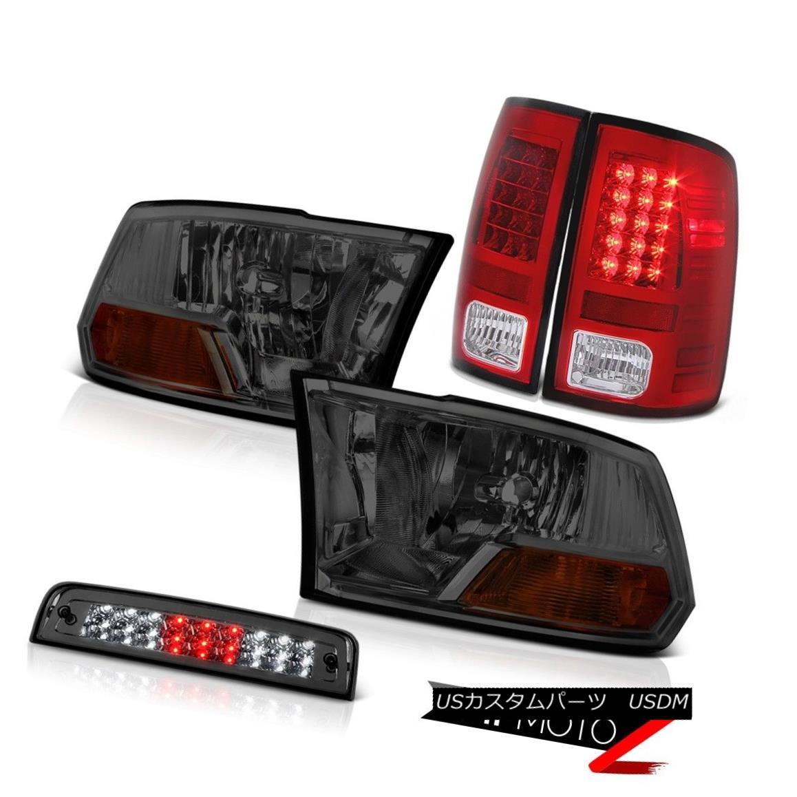 テールライト 09-18 Ram 1500 2500 3500 6.4L Roof Cab Lamp Wine Red Rear Brake Lights Headlamps 09-18ラム1500 2500 3500 6.4Lルーフキャブランプワインレッドリアブレーキライトヘッドランプ