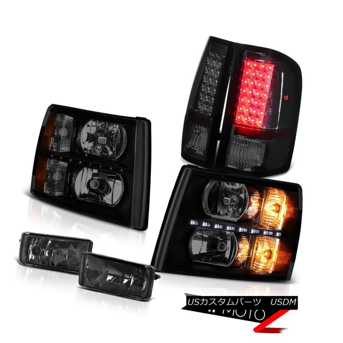 テールライト 07-13 Silverado LT Headlights led drl smokey foglamps tail lights OE Style LED 07-13 Silverado LTヘッドライトled drlスモーフォグライトテールライトOEスタイルLED