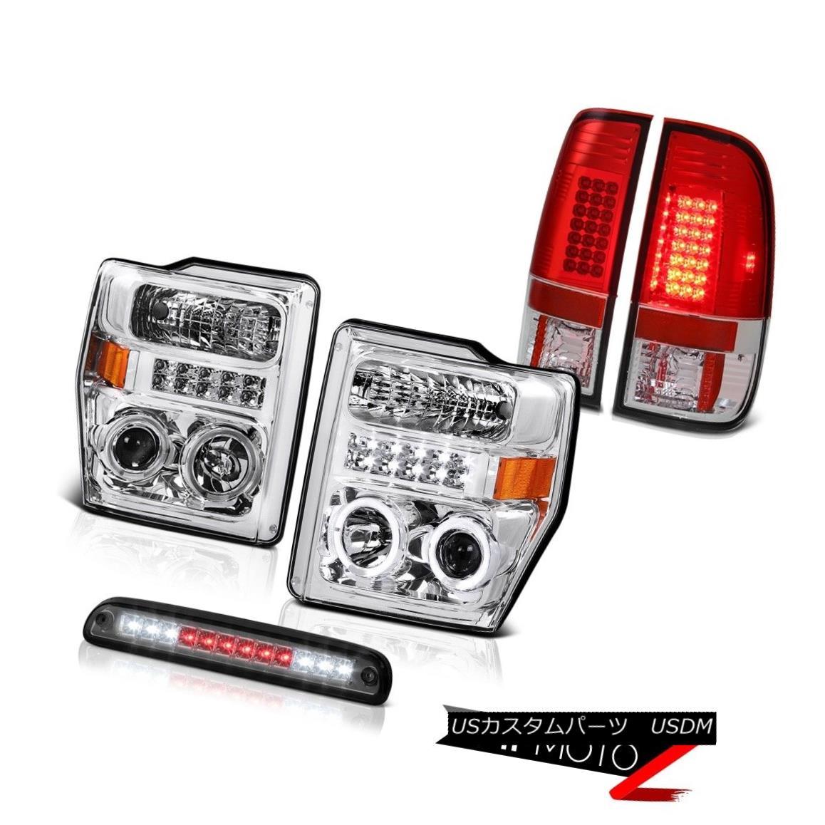 テールライト LED Angel Eye Headlight Brake Cargo Red Tail Lights 08 09 2010 F350 Turbo Diesel LEDエンジェルアイヘッドライトブレーキカーゴレッドテールライト08 09 2010 F350ターボディーゼル