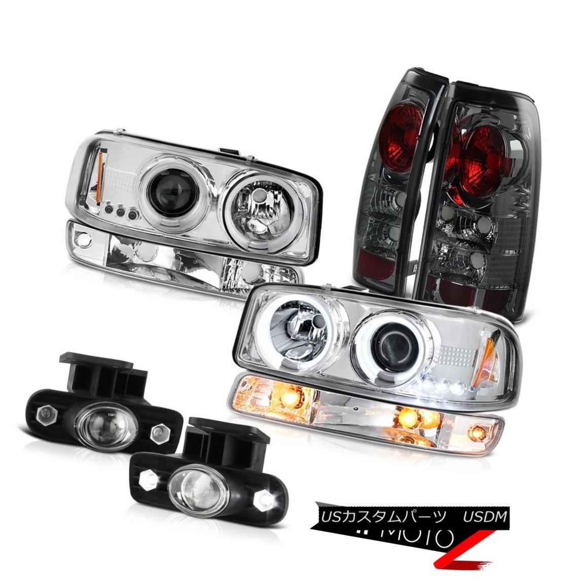 テールライト 99-02 Sierra SL Foglights dark smoke tail lights bumper light ccfl headlights 99-02シエラSLフォグライトダークスモールテールライトバンパーライトccflヘッドライト