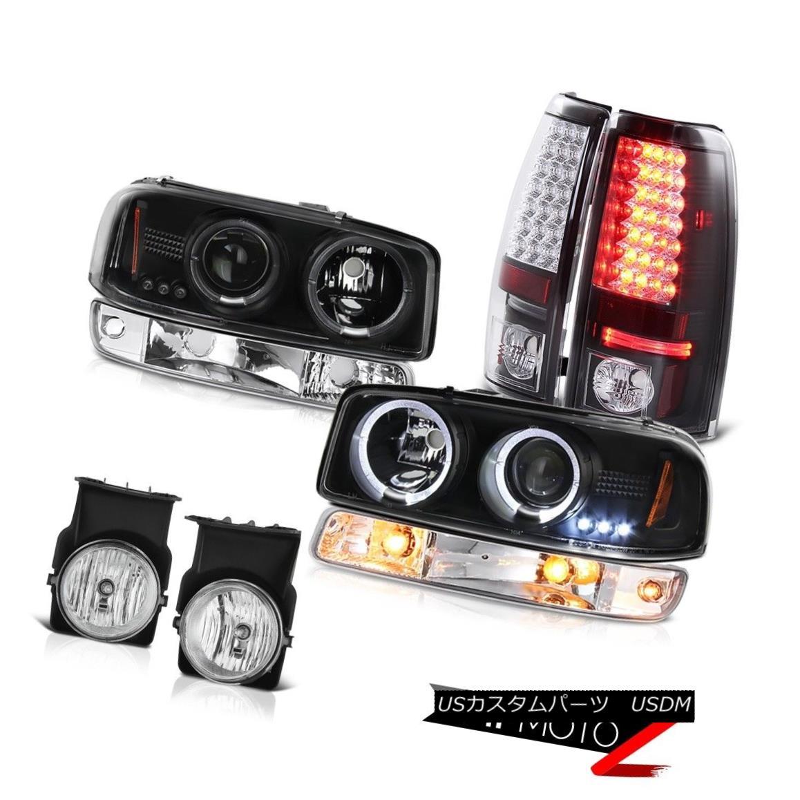 テールライト 03-06 Sierra 3500HD Euro chrome fog lights led taillamps bumper light headlights 03-06シエラ3500HDユーロクロームフォグライトテールランプバンパーライトヘッドライトを導いた