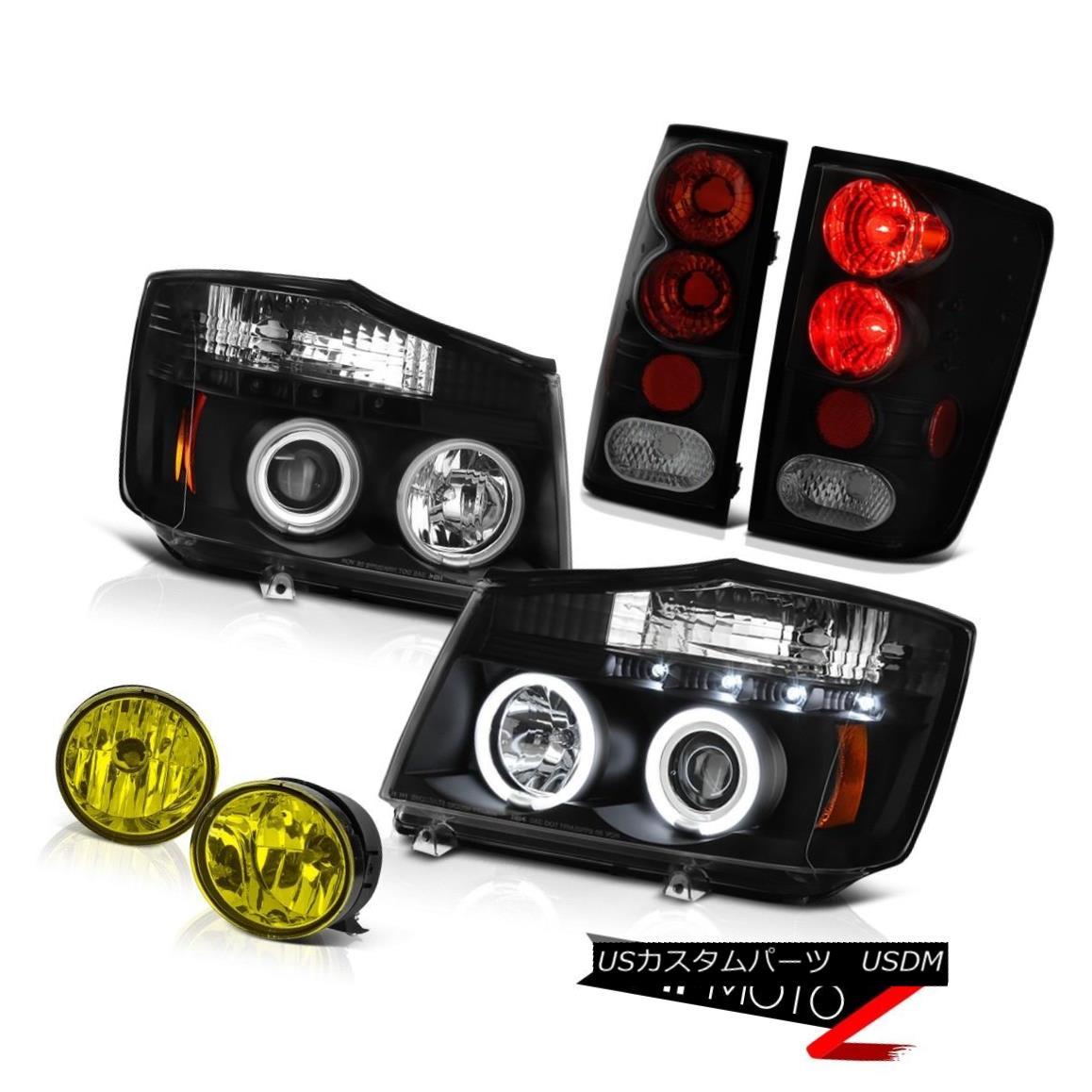 テールライト For 2004-2015 Titan XE Angel Eye Projector Headlights Reverse Tail Lights Fog 2004年?2015年Titan XE Angel Eyeプロジェクターヘッドライトリバーステールライトフォグ