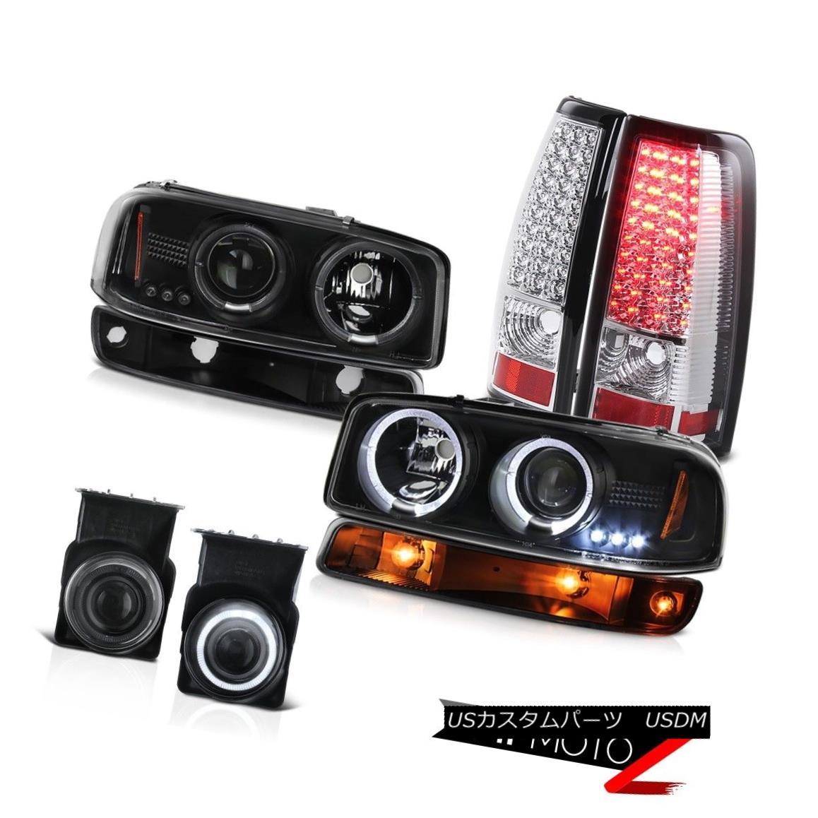 テールライト 03-06 Sierra 2500 Fog lights sterling chrome taillights signal light headlamps 03-06 Sierra 2500 Fogライト純正クロームテールライト信号ライトヘッドランプ