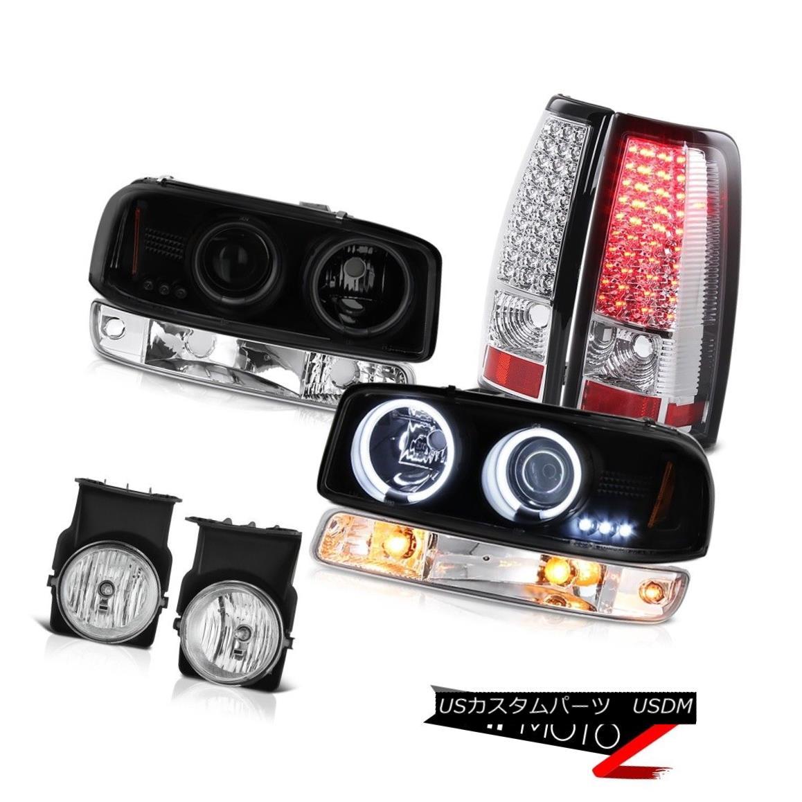 テールライト 03-06 Sierra SLE Fog lights tail brake turn signal projector Headlamps Halo Rim 03-06 Sierra SLE FogライトテールブレーキターンシグナルプロジェクターヘッドランプHalo Rim