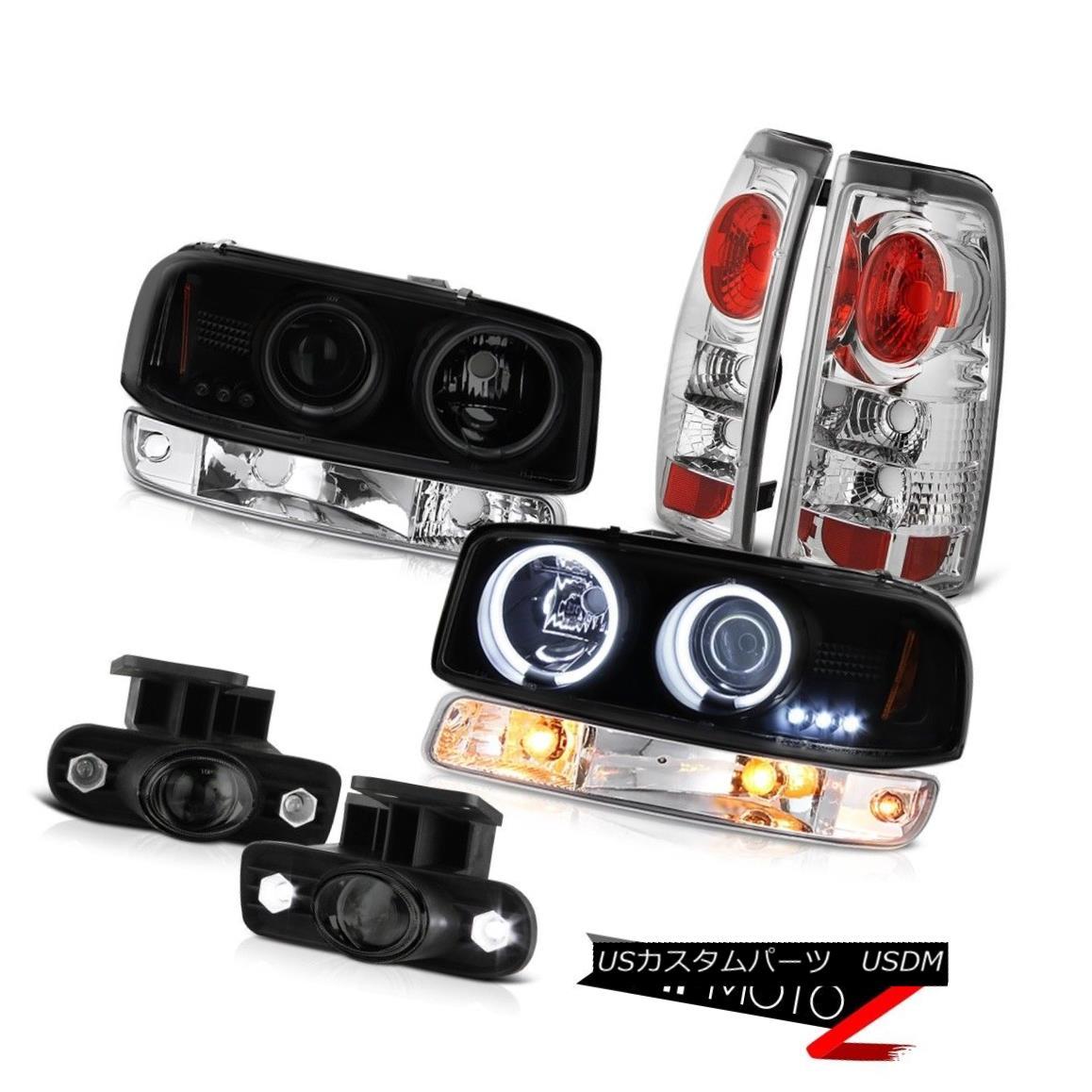 テールライト 99-02 Sierra WT Fog lamps taillights bumper light smoke tinted ccfl headlights 99-02シエラWTフォグランプテールライトバンパーライト煙がかったccflヘッドライト