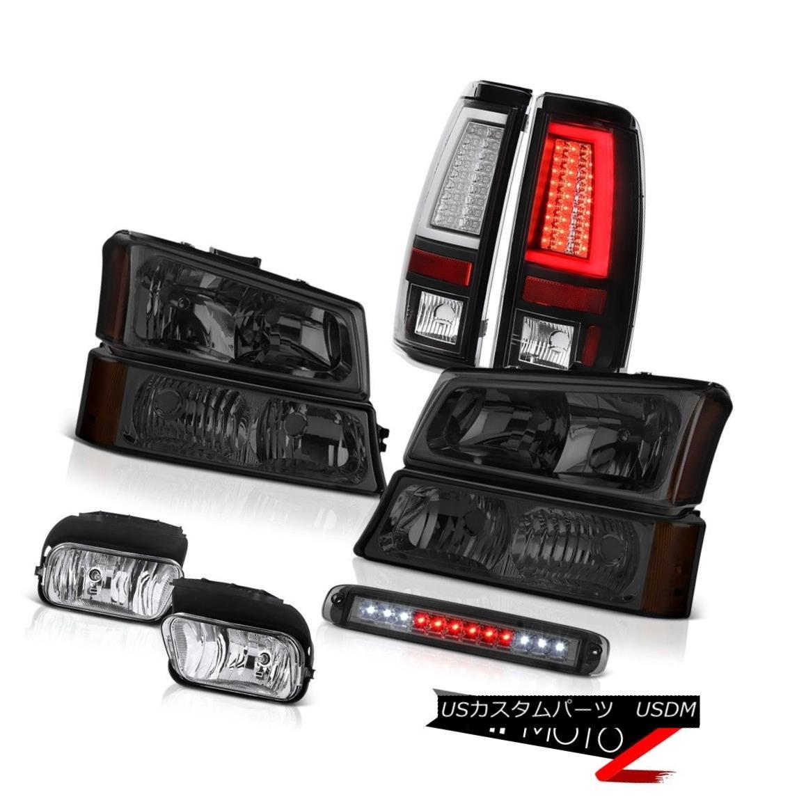テールライト 03-06 Chevy Silverado Rear Brake Lamps High Stop Light Headlights Chrome Fog LED 03-06 Chevy SilveradoリアブレーキランプハイストップライトヘッドライトクロームフォグLED