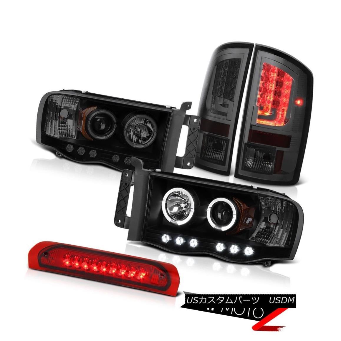 テールライト 02-05 Dodge Ram 1500 1500 4.7L Taillamps Headlights High STop Lamp LED Halo Ring 02-05ダッジラム1500 1500 4.7LタイルランプヘッドライトハイSTopランプLEDハローリング