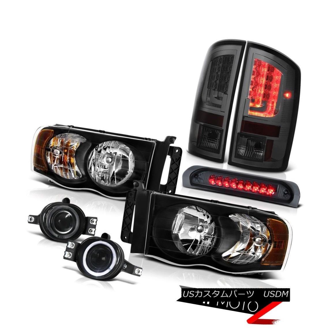 テールライト 2002-2005 Dodge Ram 1500 ST Tail Lamps Black Headlamps Foglamps Roof Brake Lamp 2002-2005 Dodge Ram 1500 STテールランプブラックヘッドランプフォグランプ屋根ブレーキランプ