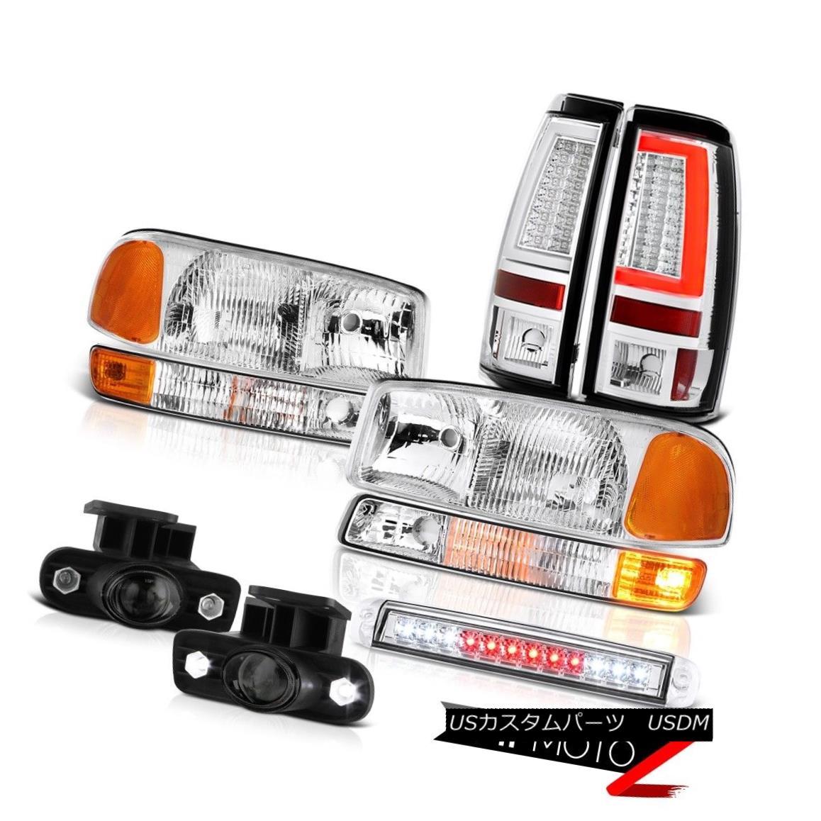 テールライト 99-02 Sierra SLE Headlamps Bumper Tail Lamps Third Brake Lamp Foglamps Projector 99-02 Sierra SLEヘッドランプバンパーテールランプ第3ブレーキランプフォグランププロジェクター