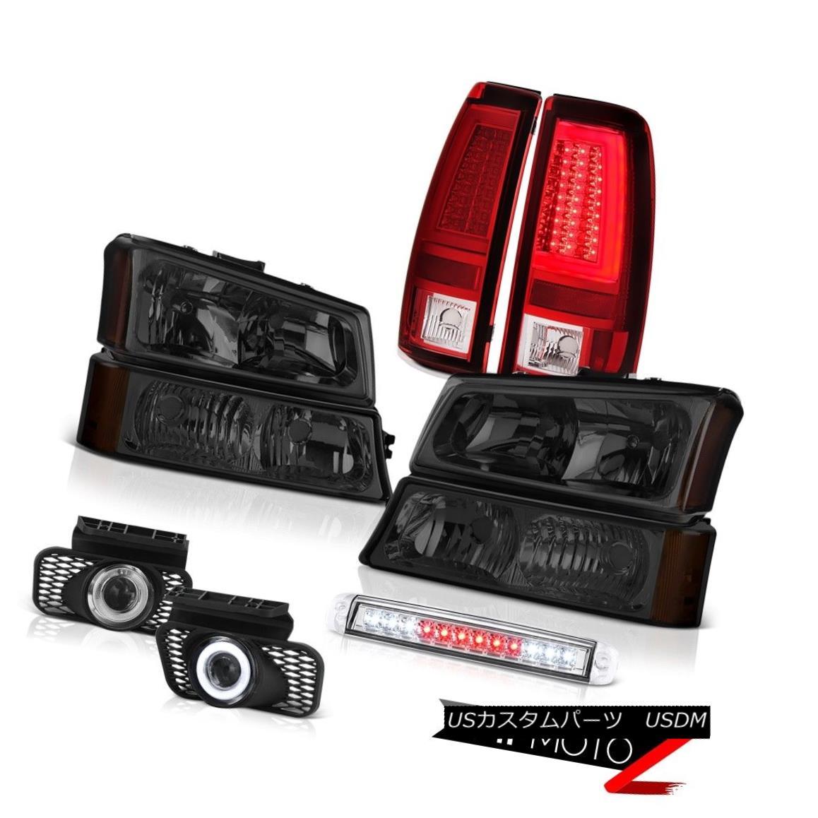 テールライト 03 04 05 06 Silverado Red Tail Brake Lights Roof Lamp Headlamps Fog Lamps LED 03 04 05 06シルバラードレッドテールブレーキライトルーフランプヘッドランプフォグランプLED