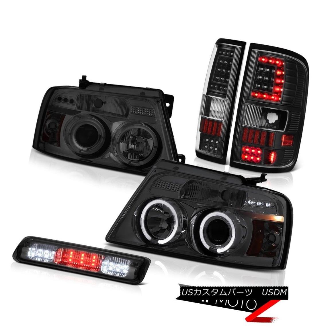 テールライト 04-07 08 Ford F150 Tail Lights Smoked Led 3Rd Brake Projector Head Set L+R LH+RH 04-07 08フォードF150テールライトスモーク3RdブレーキプロジェクターヘッドセットL + R LH + RH